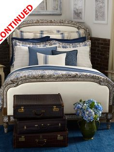 like this for the guest bedroom: Lauren Ralph Lauren Bluff Point Bedding Collection King Size Comforter Sets, King Size Comforters, King Comforter, Ralph Lauren, Pretty Bedroom, Luxury Bedding Sets, Luxury Linens, White Rooms, Home Bedroom