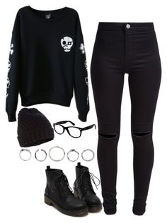 """""""959."""" by adc421 ❤ liked on Polyvore featuring New Look, Accessorize, Ray-Ban and octoberblack"""