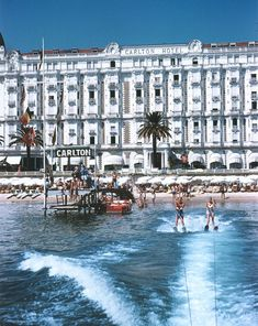 vintage photo of Carlton Hotel in Cannes