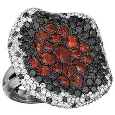 Maggioro Orange Sapphire Gold Lava Ring