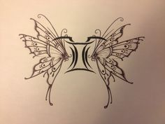 Gemini Butterfly. I'd like both my kids' Star signs tattooed on me somewhere.  Gemini for Alice & Pisces for Jake.
