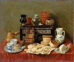 Antonio de Pereda - Still Life with an Ebony Chest [1652] | Flickr