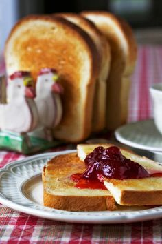 warm buttered toast and jam