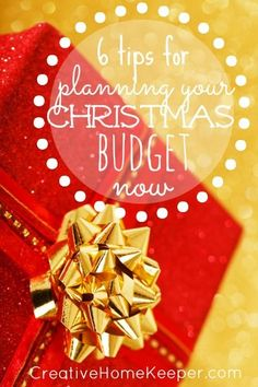Taking the time to sit down and make a plan and budget for the upcoming Christmas season will not only save you time but also money! One busy and frugal mom shares 6 tips to plan your Christmas budget NOW!!!! Good advice!