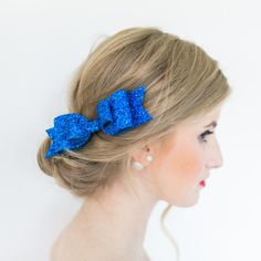 5 Colors Glitter Bow Hair Clip for Girl and Women Barrettes Sequin Girls Bow Clip Hair Pin Luxury Girl Hairpin Hair Accessories Blue ** You can find more details by visiting the image link. (This is an affiliate link) Fabric Bows, Glitter Fabric, Blue Glitter, Bow Hair Clips, Hair Barrettes, Hair Bow, Bow Clip, Bow Accessories, Hair Accessories For Women