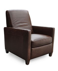 Enzo Leather Recliner Chair - Chairs & Recliners - furniture - Macy's - It will be mine, TWO will be mine. evil laugh.