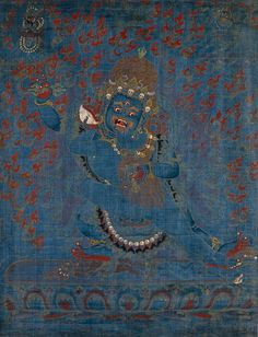 Vajrapāni & Consort. Tibet, 15th century. Sotheby's. Found in Don't Panic's Twitter page.