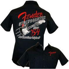 Fender 1954 Strat Work Shirt Navy Small