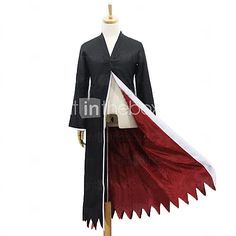 Inspired by Cosplay Cosplay Anime Cosplay Costumes Cosplay Suits Patchwork Black Long Sleeve Cloak 2017 - $29.99