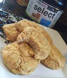 Doing a little #baking this morning before heading to work. @marie.wold was kind enough to hook me up with a few sample tubs of @pescience Select Protein in #Snickerdoodle, Gourmet Vanilla and Chocolate Peanut Butter Cup Flavors! (You rock girl! Thanks!) The #protein being a blend of #whey and #casein I knew it would favor well for baking/cooking!  So what we have here I think I'm going to call #Pumpkin Snickerdoodle Muff-ookies - a cross between a #muffin top and a soft baked #cookie is…