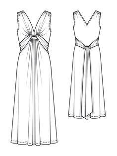 twisted maxi-dress burda 02/2013 115