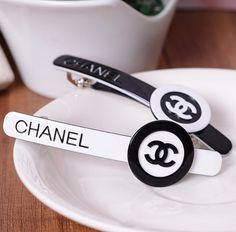 Chanel hair accessories hair pin clip barrettes