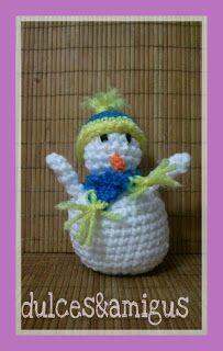 Patrón amigurumi: muñeco de nieve Snoopy, Fictional Characters, Art, Make A Snowman, Hand Made, Amigurumi Patterns, Trapillo, Art Background, Kunst