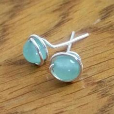 $20-24! Now available at Gemstones4Wellness! 16 Gemstone Options! Your custom gemstone Sterling Silver wire wrapped stud earrings await you! Great gift idea for the minimalist in your life. Give the gift of healing! See shop for sales. FREE SHIPPING NOW!♡