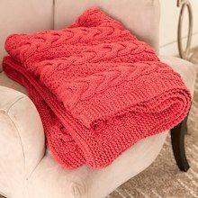 Bernat® Maker Home Dec™ Cable Ready Blanket