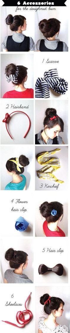 TOP 6 accessories for the doughnut bun #hair | Spritzi, l'actu en direct des meilleurs blogs beauté