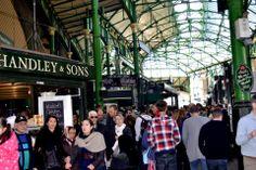 London- Burrough Market  This picture portrays the hustle and bustle of Burrough Market in London