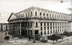 TEATRODEGOLLADO1930-1950 Mexico City, Nostalgia, Louvre, Street View, History, Building, Places, Travel, Anime