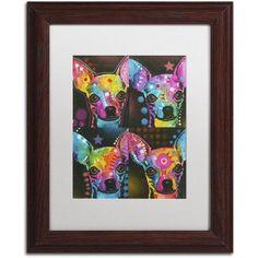 Trademark Fine Art 11 inch Canvas Art by Dean Russo, White Matte, Wood Frame, Size: 11 x 14, Brown