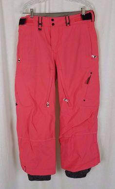 Women Patagonia Bonfire Aura Coral Insulated Ski Snowboard Winter Nylon Pants M #Patagonia #SkiPants