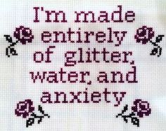 Okay so I may have an overuse injury in my shoulder from my crocheting and I'm considering embroidery as a more one handed crafting option and lo and behold I have found the perfect pattern for my anxiety ridden and overly hydrated little self~ .//w//.