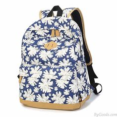 Women Girl Fresh Vintage Cute Floral Flower School Book Campus Bag Canva Backpack only $28.99 in ByGoods.com!