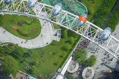 An eye above the London Eye.  Another remarkable aerial photograph by Jason Hawkes.