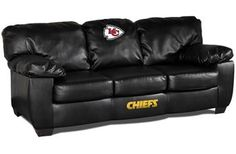 Use this Exclusive coupon code: PINFIVE to receive an additional 5% off the Kansas City Chiefs Leather Classic Sofa at SportsFansPlus.com Black Leather Sofas, Bonded Leather, Classic Sofa, Classic Leather, Couch Furniture, Country Furniture, Pallet Furniture, Furniture Ideas, Cincinnati Bengals