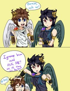 Pitty Pat And Pittoey Find This Pin More On Kid Icarus Uprising