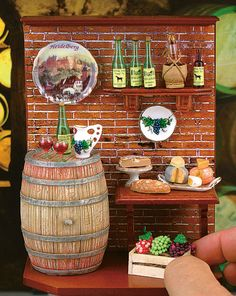 Miniature Wine Cellar Tableau