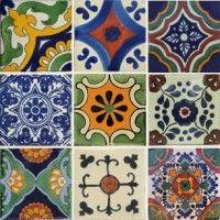 Mixed Set 20 Moroccon Tiles, Tuile, Ceramic Mosaic Tile, Painted Doors, Painted Tiles, Spanish Tile, Stencil Designs, Decorative Tile, Tile Design