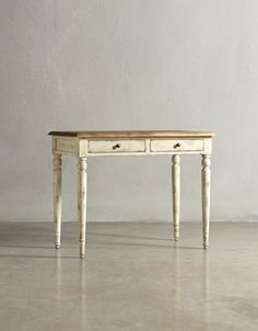 The FLORENCE Desk - in French White - http://swooneditions.com