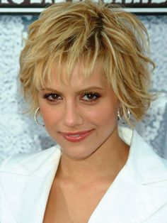 wavy bob hairstyles with bangs | Medium wavy with messy spikes and long bangs