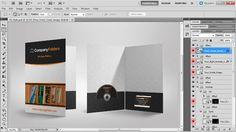 Mockup Psd Free Folder Template