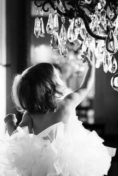 Chandelier & baby girl ..do this pic with scarlett's chandelier in her room !!!