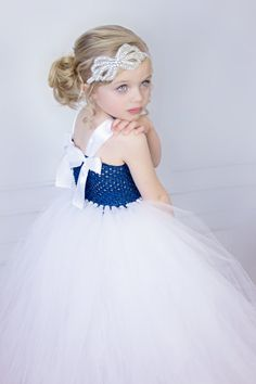 Hey, I found this really awesome Etsy listing at https://www.etsy.com/listing/226225583/navy-blue-and-white-couture-flower-girl