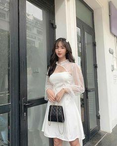 Kpop Fashion Outfits, Girls Fashion Clothes, Indie Fashion, Korean Outfits, Cute Fashion, Fashion Dresses, Korean Clothes, Clothes Women, Korean Girl Fashion