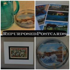 Come check out our Repurposed Postcards!  The are a fun #diy project if you love postcards!