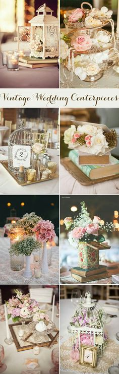 Vintage wedding centerpieces