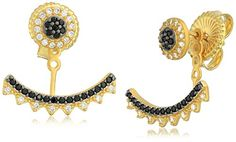 Freida Rothman Harlequin Edge Earring Jackets * See this great product.