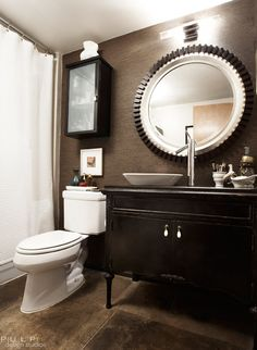 I love the aesthetic a dresser adds as a sink vanity.