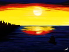 Shop for sunset art from the world's greatest living artists. All sunset artwork ships within 48 hours and includes a money-back guarantee. Choose your favorite sunset designs and purchase them as wall art, home decor, phone cases, tote bags, and more! Sunset Art, Digital Paintings, The World's Greatest, Sailboat, Fine Art America, Sailing, Doodles, Wall Art, Artist
