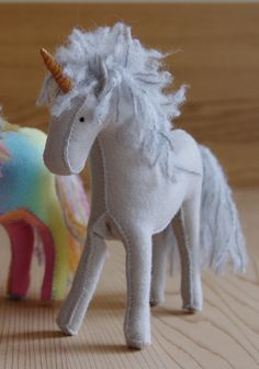Felt Horse or Unicorn in Your Choice of Colour. $55.00, via Etsy.