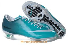 19f27cffc Nike Mercurial Vapor IX FG Soccer Cleats Jade Blue White White Football  Boots