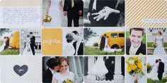 simple as that: Project Life Midnight Edition: Wedding Pages