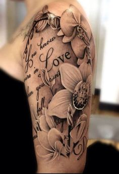 Girly Flower Tattoo Design Ideas