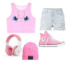 """""""Jiggly Puff"""" by cupkakegirl12345 on Polyvore featuring Ksubi and Converse"""