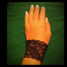 Gorgeous Steam Punk Original Arm Band/Bracelet This is a gorgeous black lace arm band/bracelet! It is stretchy & fits over your arm like a glove! ;-) these are home made & very Original!!! It is very Punk or Goth!! And Sexy! Would look great with any outfit! I have sizes - small's and medium's.                                                   The price is for only one band/bracelet.  This is by: Ivy Leaf Accessories!  - Will also accept PayPal - It will be the same cost as listed + only $1…