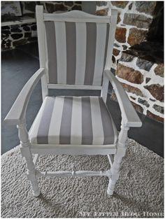 Retapisser un fauteuil facilement, oh  le beau tissu !