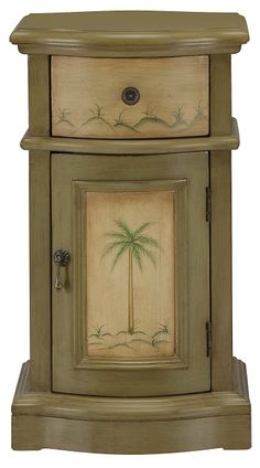 largo green small accent chest